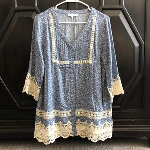 Blue and lace tunic